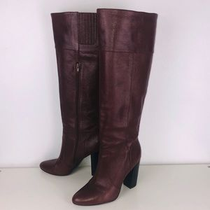 Banana Republic knee high brown leather boot
